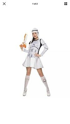Star Wars Stormtrooper Halloween Costume Woman Large Dress Size (14-16) Defects! - Stormtrooper Costume Women