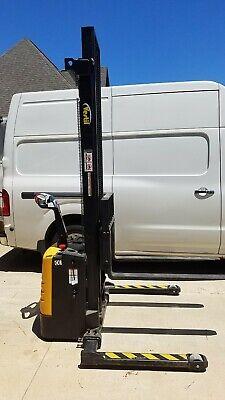 Vestil S-150-aa Fully Powered Adjustable Lift Stacker150 High