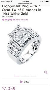 Michael Hill 2 Carat Diamond 14 carat White Gold Stunning ring. East Perth Perth City Area Preview