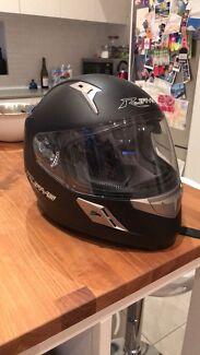 Brand new Matt Black motorbike helmet size xxs