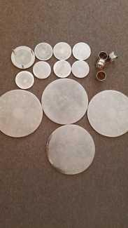 Silver plated place mats, coasters and serviette rings
