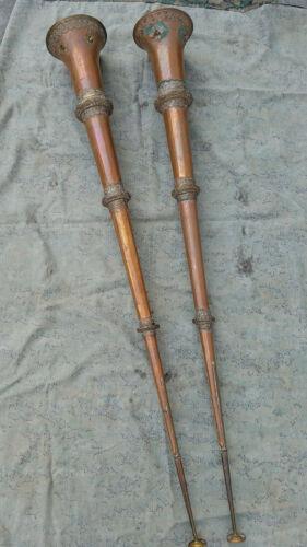 ONE Antique Tibetan Ceremonial Dungchen Trumpet Horn telescopic collapsible