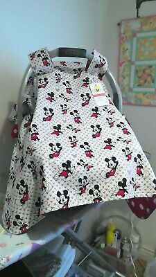 Mickey Mouse handmade baby car seat canopy/cover