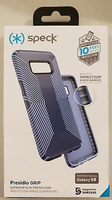 Speck Products Presidio Grip Cell Phone Case for Samsung Galaxy S8 - Marine Blue Blue Cell Phone Case