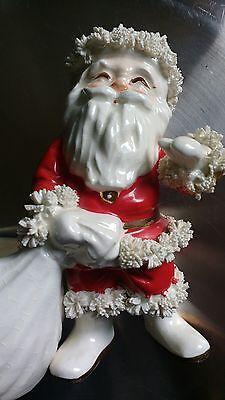 Napco Vintage Ceramic Santa Claus with Bag Figurine Planter #S267A