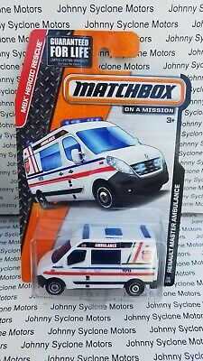 MATCHBOX RENAULT MASTER AMBULANCE EMERGENCY VEHICLE MB RESCUE WHITE V2