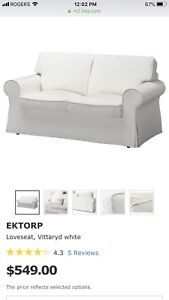 IKEA  - 2 Pieces - Loveseat ❤️ and Footstool - New*