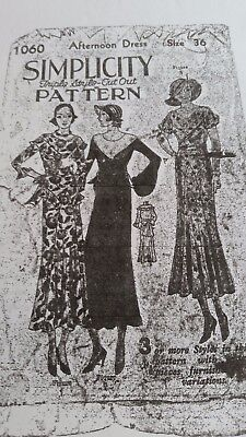 1930s Sewing Patterns (*RARE  **  Antique Sewing Pattern- 1930's , Sim #1060 )