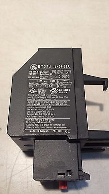 Ge Rt22j Overload Relay Trip Class 20 Current Range 64.0 To 82.0a 3 Poles