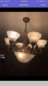 Three matching chandeliers