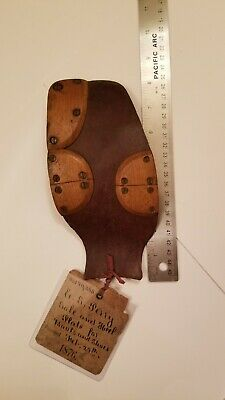 Rare 1800s Patent Model sole and heel plate for boots and shoes antique fashion