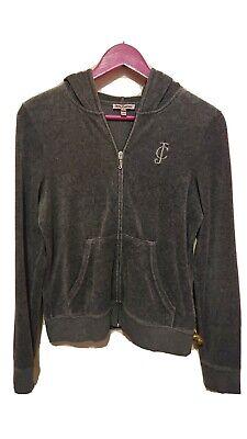 Juicy Couture Grey Velour Tracksuit Top Jacket Size L