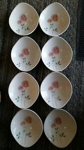IROQUOIS INFORMAL True China SOUP Cereal BOWLS ~ ROSEMARY Design BEN SEIBEL