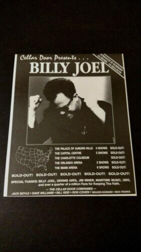 "BILLY JOEL ""CELLAR DOOR PRESENTS ""SOLD OUT!  RARE ORIGINAL PRINT PROMO POSTER AD"