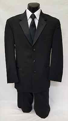 40 L Mens Black Tuxedo Frock Cheap Steampunk Costume Theater Reenactment