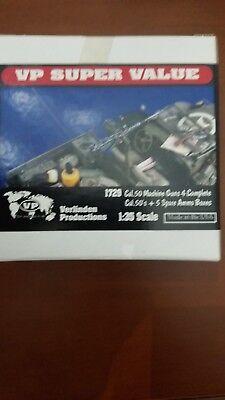 Verlinden 1/35 SuperValue .50 Caliber Machine Guns x4 w/Ammo Boxes x5 1729