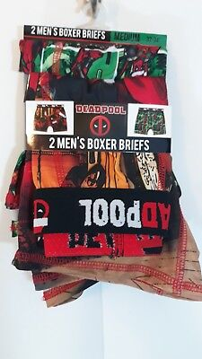 Dead Pool Men's Christmas Graphic 2pk Boxer Briefs Multicolored