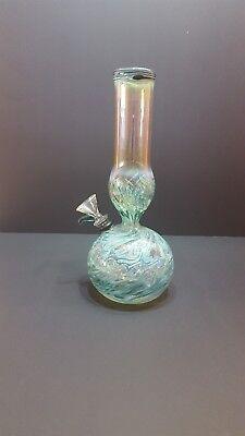 Hookah Water Pipe Bong Glass  9.5 inch –Aqua