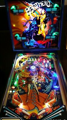 Panthera Pinball Machine 1980 Gottlieb HUO - Panther MOD - LEDS -