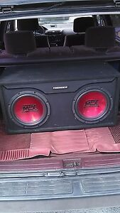 PRICED TO SELL. MTX SUBS THUNDER BOX W/PORT