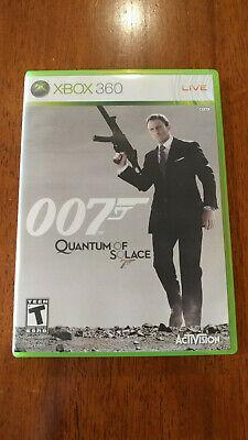 James Bond 007: Quantum of Solace (Microsoft Xbox 360, 2008) GOOD W/MANUAL!