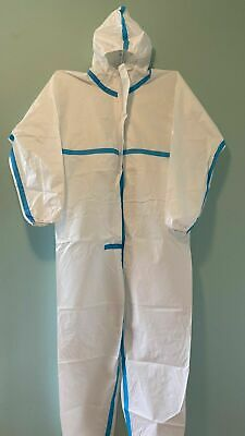 Hazmat Protective Suit Gown Coverall - Personal Protection Free Mask
