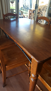 Timber and wrought iron table and chairs Echunga Mount Barker Area Preview