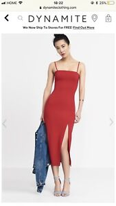 Red Ankle dress from Dynamite