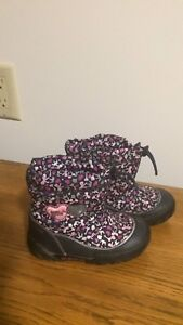 Baby girl toddler 3 pairs winter boots size 6