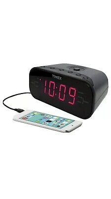 New Timex Large LED Display Dual Alarm AM/FM Clock Radio AUX-IN Buzzer