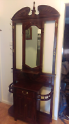ELEGANT ANTIQUE REPRODUCTION SOLID WOOD HALL STAND Gorokan Wyong Area Preview