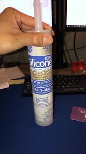 Clear silicone caulking