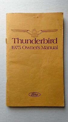 Original 1975 Ford Thunderbird Owners Manual 2nd Print 100 Pages