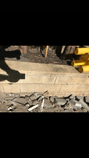 Blocks for a retaining wall