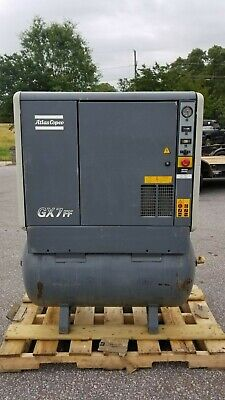 Used 10 Hp Atlas Copco Gx 7 W Full Featured W Dryer Rotary Compressor 230460v