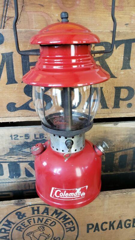 VTG 10/1966 Coleman Red Model 200 Lantern Camping