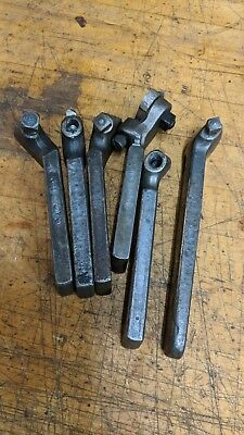 6 Assorted Metal Lathe Lantern Tool Post Bit Holders Armstrong Jh Williams Set9
