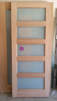 Frosted glass maple entrance door