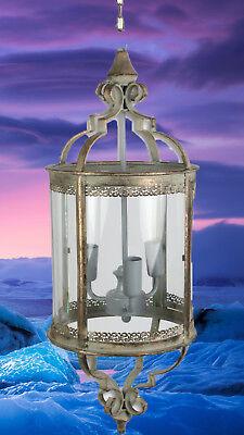 Laterne Hänge Lampe zum verstromen Leuchten Antiq Beleuchtung Mobiliar Geschenk