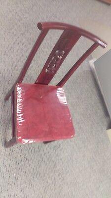 Wooden Restaurant Chairs W Velvet Seats.