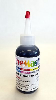 Dyemaster Sublimation Ink Black 4 Oz. 120ml With Free Custom Icc Profile