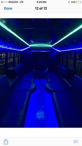 Limo bus rentals  Stratford Kitchener Area image 1