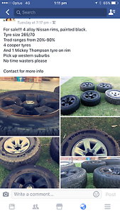 Nissan Alloy Rims Henley Beach Charles Sturt Area Preview