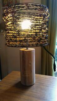 Rustic Table Lamp Vintage Barbed Wire Shade