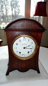 Rare-Antique-Mahogany-Seth-Thomas-Mantel-Shelf-Clock-Victorian-Beehive-Chime