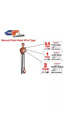 0.5 Ton Chain Hoist Puller Block Fall Chain Lift Hand Tools Chain With Hook