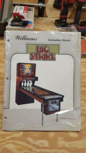 NOS Big Strike Bowling Game Manual by Williams plus Schematics