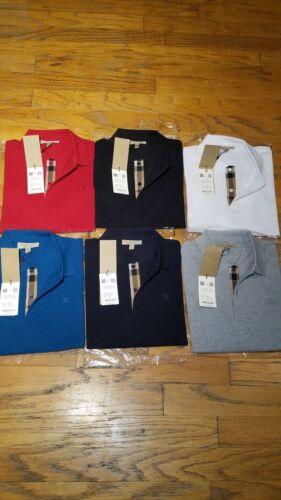 Burberry london mens short sleeve nova check placket polo shirt s,m,l,xl,2xl,3xl