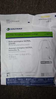 Halyard Large Blue Sterile Surgical Gown W Hand Towel Aami Level 3 Ref. 95111