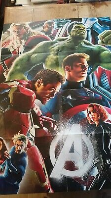 Marvel Avengers Hulk Thor Iron Man Movie Poster Art Print 91x61 cm